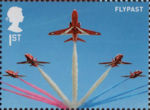 The RAF Centenary 1st Stamp (2018) RAF Red Arrows - Flypast