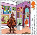 Royal Academy of Arts 1st Stamp (2018) Grayson Perry - Summer Exhibition