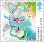 Royal Academy of Arts 1st Stamp (2018) Fiona Rae - Queen of the Sky