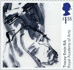 Royal Academy of Arts £1.55 Stamp (2018) Tracey Emin - Saying Goodbye