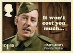 Dads Army £1.45 Stamp (2018) Private Walker – It won't cost you much!
