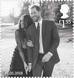 The Royal Wedding £1.55 Stamp (2018) Prince Harry and Ms Meghan Markle