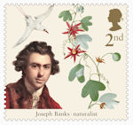 Captain Cook and Endeavour 2nd Stamp (2018) Sir Joseph Banks