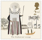 Captain Cook and Endeavour 2nd Stamp (2018) Chief Mourner of Tahiti