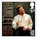 The Old Vic £1.25 Stamp (2018) Hamlet, 1975