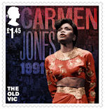 The Old Vic £1.45 Stamp (2018) Carmen Jones, 1991