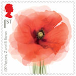 The First World War - 1918 1st Stamp (2018) 100 Poppies, Z and B Baran