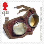 The First World War - 1918 £1.55 Stamp (2018) Lieutenant Francis Hopgood's goggles