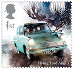 Harry Potter 1st Stamp (2018) Flying Ford Anglia