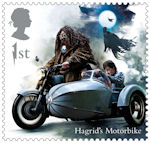 Harry Potter 1st Stamp (2018) Hagrid's Motorbike