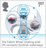 British Engineering 1st Stamp (2019) Falkirk Wheel