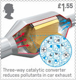 British Engineering £1.55 Stamp (2019) Catalytic Converter