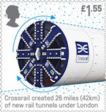British Engineering £1.55 Stamp (2019) Crossrail