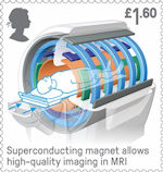 British Engineering £1.55 Stamp (2019) MRI Scanner