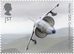 British Engineering 1st Stamp (2019) Harrier GR3: Conventional Flight