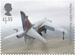 British Engineering £1.55 Stamp (2019) Harrier GR3: Vertical Landing