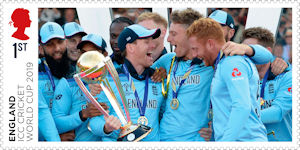 ICC Mens Cricket World Cup 2019 1st Stamp (2019) ICC Cricket World Cup 2019