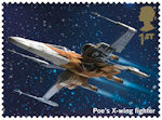Star Wars - The Rise of Skywalker 1st Stamp (2019) Poes X-wing fighter