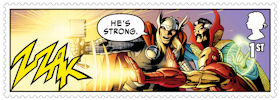 Marvel 1st Stamp (2019) Panel 3 - Thor, Doctor Strange and Iron Man