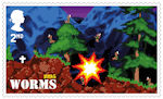 Video Games 2nd Stamp (2020) Worms
