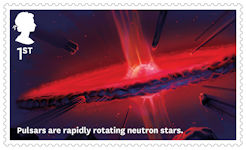 Visions of the Universe 1st Stamp (2020) Pulsars