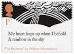 The Romantic Poets 1st Stamp (2020) The Rainbow by William Wordsworth