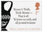 The Romantic Poets 1st Stamp (2020) Ode on a Grecian Urn by John Keats