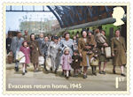 End of the Second World War 1st Stamp (2020) Evacuees return home, 1945