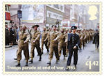 End of the Second World War £1.42 Stamp (2020) Troops parade at end of war, 1945