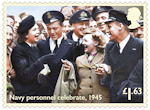 End of the Second World War £1.63 Stamp (2020) Navy personnel celebrate, 1945