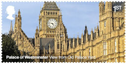 The Palace of Westminster 1st Stamp (2020) View from Old Palace Yard