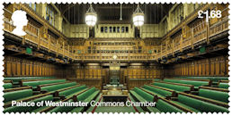 The Palace of Westminster £1.68 Stamp (2020) Commons Chamber
