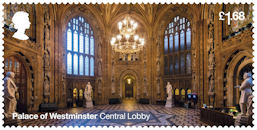 The Palace of Westminster £1.68 Stamp (2020) Central Lobby