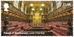The Palace of Westminster £1.68 Stamp (2020) Lords Chamber