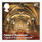 The Palace of Westminster 1st Stamp (2020) Chapel of St Mary Undercroft