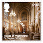The Palace of Westminster £1.63 Stamp (2020) St Stephens Hall