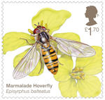 Brilliant Bugs £1.70 Stamp (2020) Marmalade Hoverfly (Episyrphus balteatus)