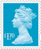 New Definitive Stamps 2021 £1.70 Stamp (2020) Marine Turquiose