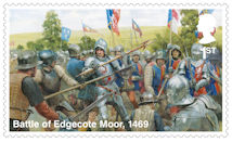 The Wars of the Roses 1st Stamp (2021) Battle of Edgecote Moor, 1469