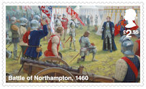 The Wars of the Roses £2.55 Stamp (2021) Battle of Northampton, 1460