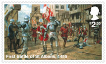 The Wars of the Roses £2.55 Stamp (2021) First Battle of St Albans, 1455