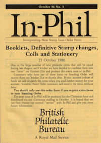 Booklets, Definitive Stamp changes, Coils and Stationery