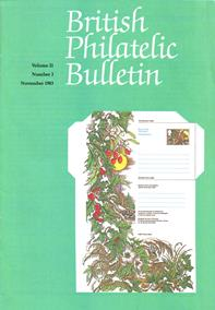 British Philatelic Bulletin Volume 21 Issue 3