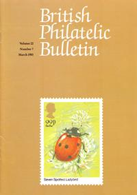British Philatelic Bulletin Volume 22 Issue 7