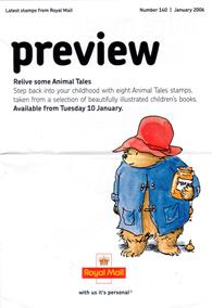 Royal Mail Preview 140 - Relive some Animal Tales