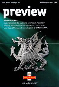 Royal Mail Preview 143 - Welsh Rare Bits