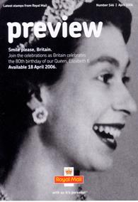 Royal Mail Preview 146 - Smile please, Britain - 80th birthday of Queen Elizabeth II