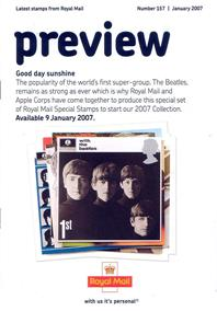 Royal Mail Preview 157 - Good Day Sunshine - January 2007