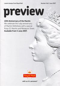 Royal Mail Preview 166 - 40th Anniversary of the Machin