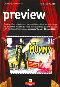 Royal Mail Preview 183 - The Carry on Comedies and Hammer Horror